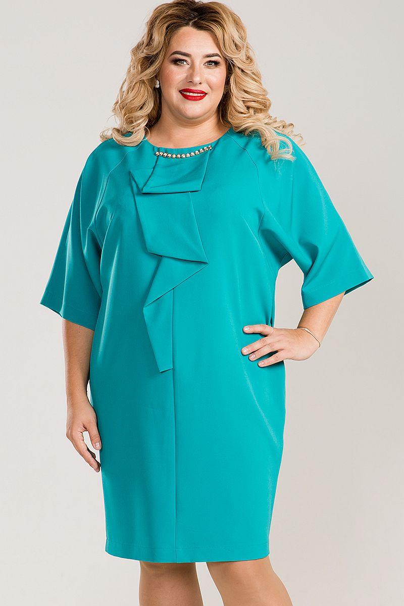 c8be397db8bc855 Нарядное платье цвета бирюзы Люкс-793 бирюзовый (ткань - Плательно ...