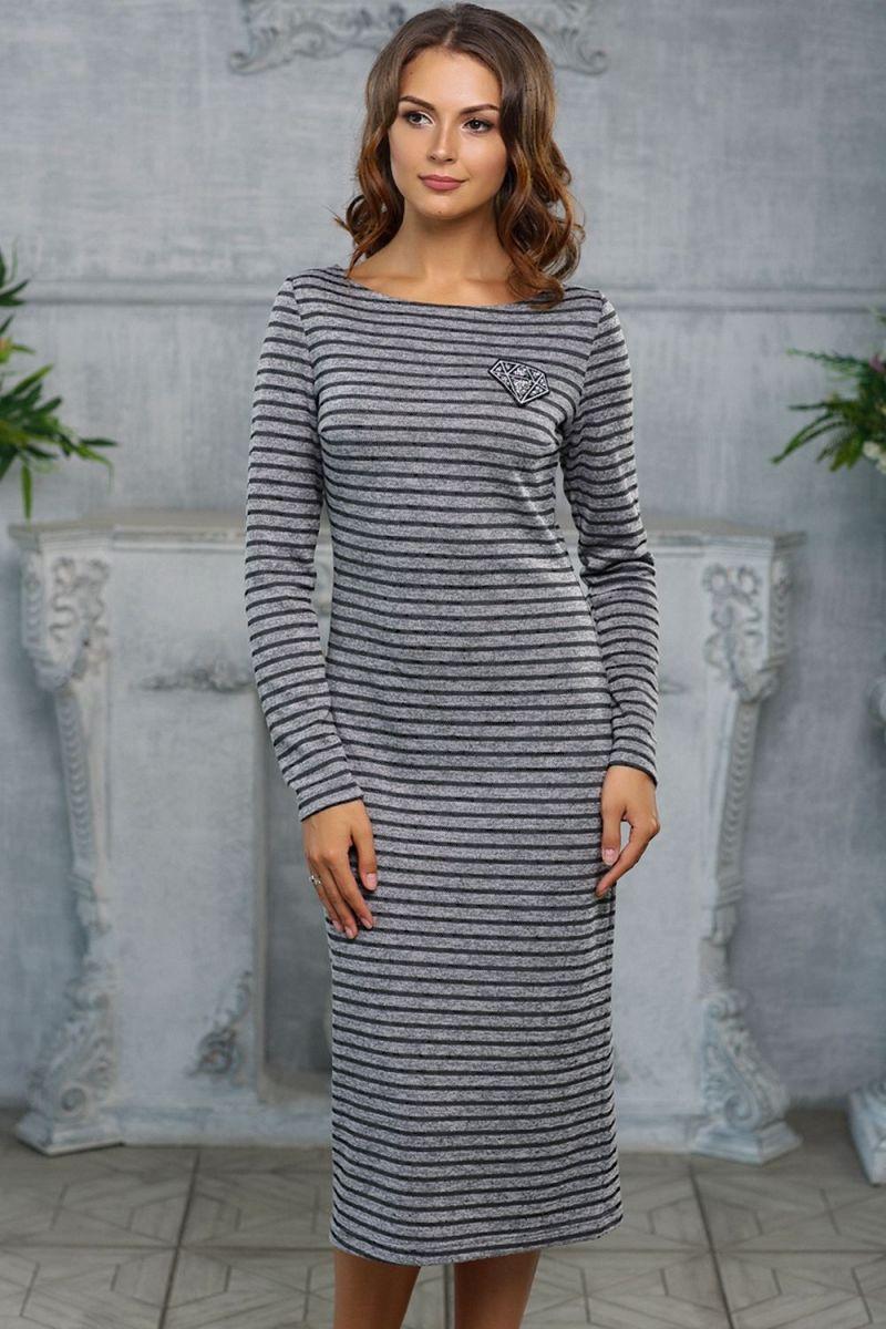 1bcfaf050abd Трикотажное платье в полоску LR-П466 (ткань - Трикотаж) цена, фото в ...