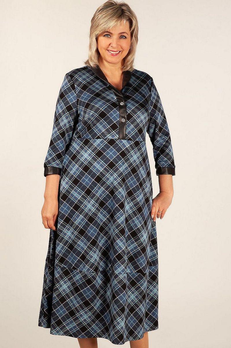 84fb1f7dc3445af Очаровательное платье в клетку Milada-Варвара Платье клетка синяя ...