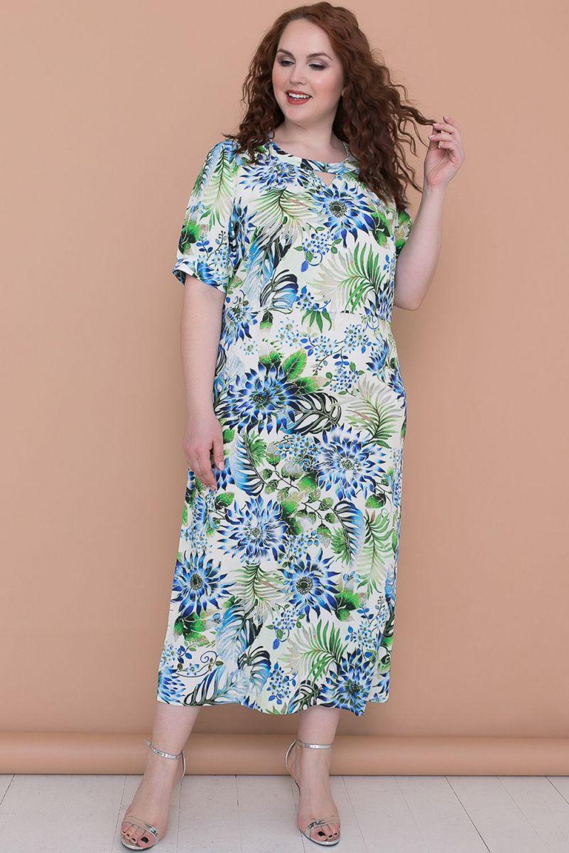 f7fce97201a4 Эффектное длинное платье СО-Платье ДИССОНА голубые цветы (ткань ...