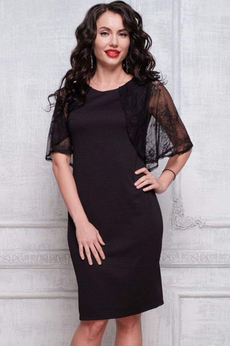 10a256ee51d Нарядное платье-футляр Taiga-П568-14 (ткань - Трикотаж + кружево ...