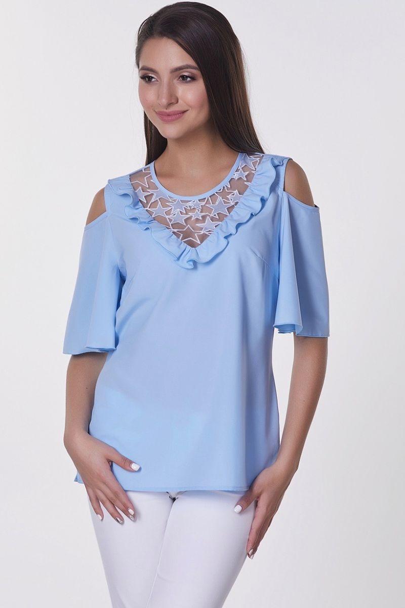 ba5633596fd5482 Романтическая блуза с открытыми плечами Val-Ирис №1 (ткань ...